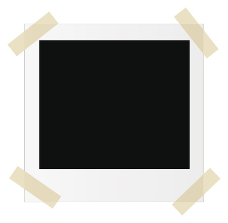 vector empty photo frame with stickers isolated over white background Vector