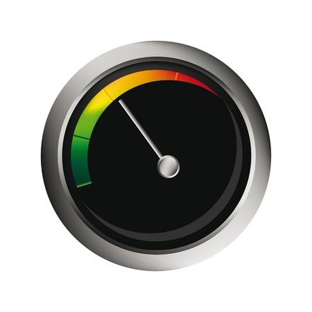 compteur de vitesse: tachymètre vecteur isolé sur fond blanc pour vous web design Illustration