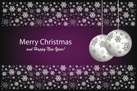 snow flakes: Vector Kerst decoratie achtergrond met sneeuwvlokken Stock Illustratie