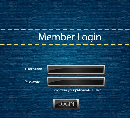 Vector login background with blue jeans motive for your webdesign Vector