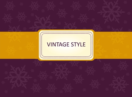 Vector template frame design for xmas card with snow flakes Vector