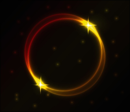 Nice colorful glowing circle vector background for your creative work Vector