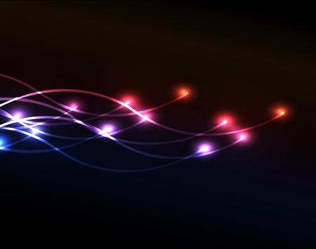 Optical fiber background with a lot of lights for your creative work and design Vector