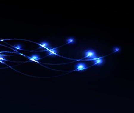 多くの創造的な仕事とデザインのためのライトと光ファイバーの背景
