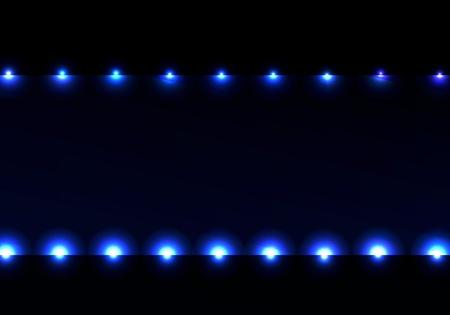 sipario chiuso: Bella cornice di fondo di illuminazione con ligths plasma blu e sfondo scuro