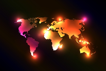 Creative and original vector with map of the world. Perfect for your webdesign or website. Illustration