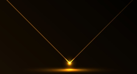 beam of light: Nice vector laser light in orange fire color and dark background
