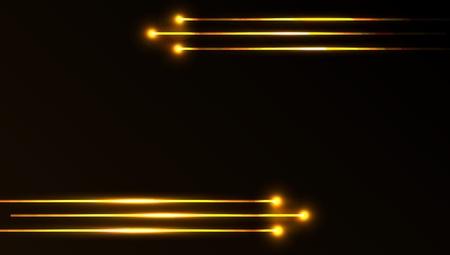 beam: Mooi vector laserlicht in gouden kleur en een donkere achtergrond Stock Illustratie
