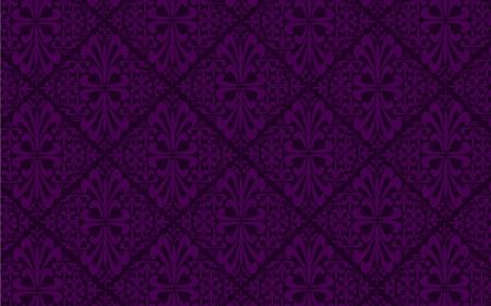 dark purple: Purple antique seamless pattern with ornaments Illustration
