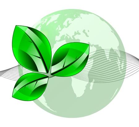 Vector illustration of autumn symbol  Leaf isolation over white background  Ecology theme  Vector