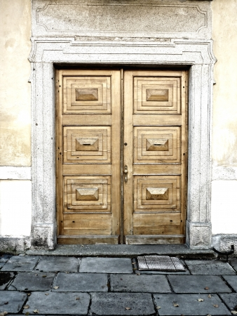 Detail of an old architecture and door. photo
