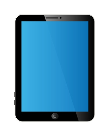 Vector tablet with blank display. Isolation over white background. Vector
