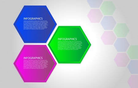 multifaceted: Vector polygon infographic. Layout for webpage or webdesign.
