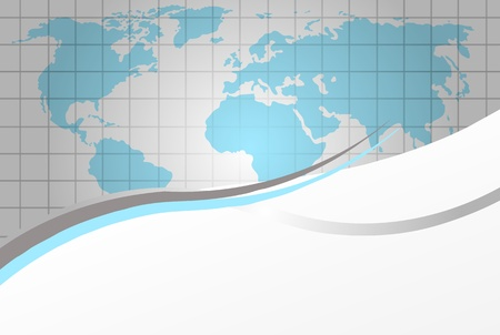 Vector moder background with world map. Can be used as background, layout or template for your business. Vector