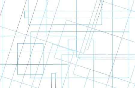 isolation: Modern white background with blue lines. Isolation. Illustration