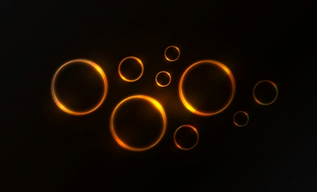 Nice colorful glowing fire circle vector background for your creative work Vector