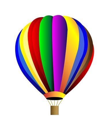 luftschiff: Vector bunten Hei�luft-Ballon. Isolation auf wei�em Hintergrund. Illustration
