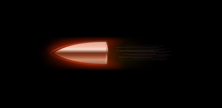 vector illustration of burning fire flame bullet on black dark background Vector