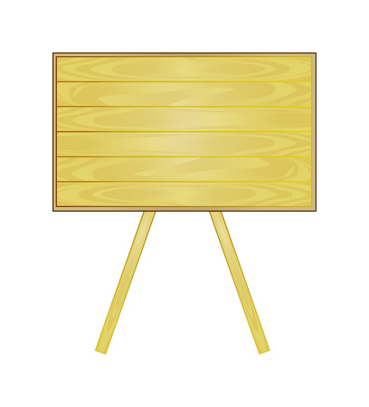 Vector wood or wooden table or board. School is back.  Vector