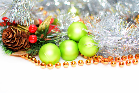 Christmas background and decoration with copyspace for text photo