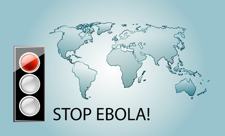 zaire: Stop ebola virus theme background with world map