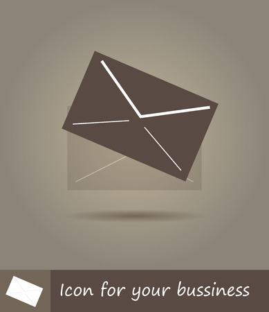 Vector flat line icon illustration of envelope Vector