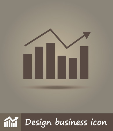 Vector flat line icon illustration of graph Vector