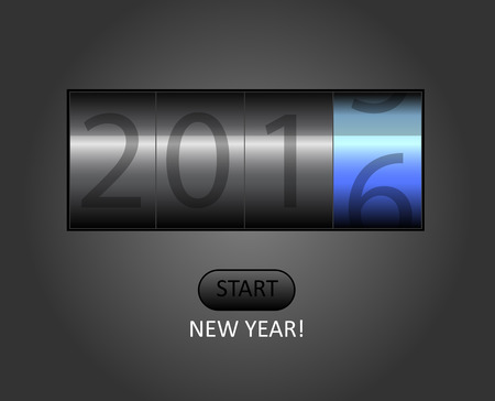 new year counter: 2015-2016 change represents the new year 2016. New year 2016 Text Design with counter.