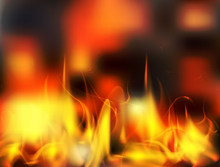 Vector abstract fire flame background looks like real fire. Illustration