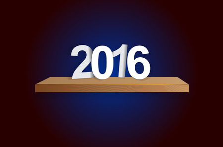 represents: 2015-2016 change represents the new year 2016. New year 2016 Text Design. Illustration