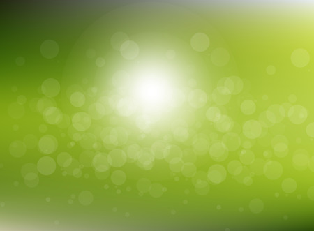 Vector green blurred circle abstract background with bokeh light circles