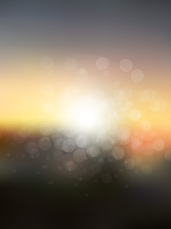 sun flares: abstract sun holiday blurred background. Sunset over sea or ocean with sun flares and nice bokeh circles.