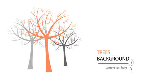 isolation: abstract tree. Abstract design. Can be used as nature or ecology background. Isolation over white background. Illustration