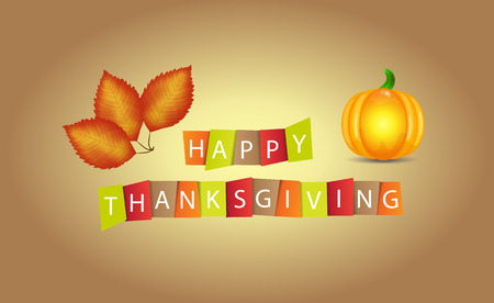 stylize: Colorful paper tags or labels with stylize text for Happy Thanksgiving.