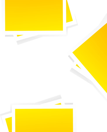 postit: Vector office background or office template. White background and yellow post-it.