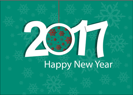 new year celebration: Happy New Year 2017 celebration card or