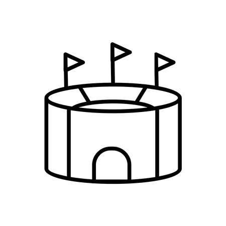 stadium icon vector