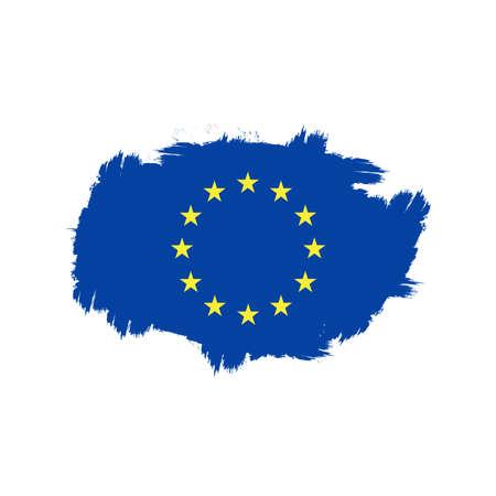 union europea flag brush splash effect icon vector