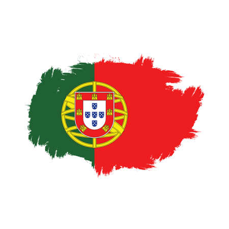 portugal flag splash brush effect icon vector