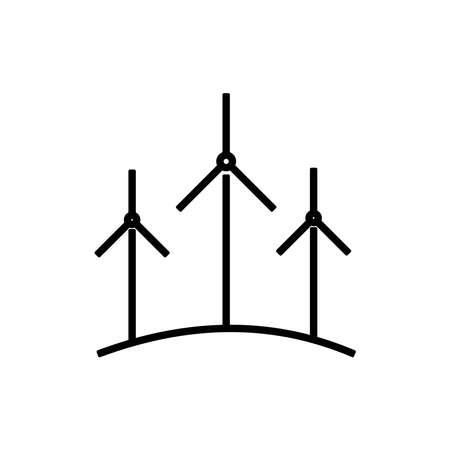 wind energy icon vector Vettoriali