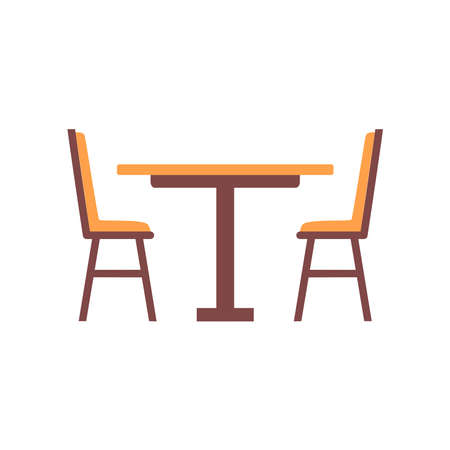 dinner table icon vector