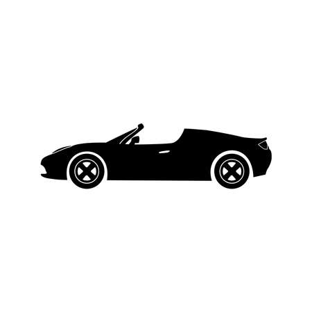 cabriolet sport car icon vector
