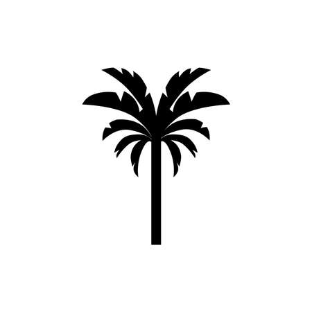 Tropic tree icon vector
