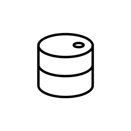 oil barrel icon vector Stock Illustratie