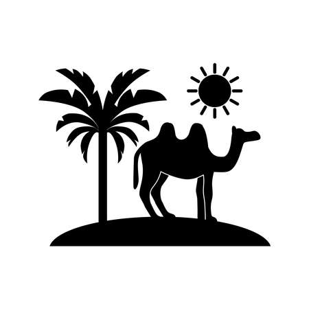 tropical landscape icon vector
