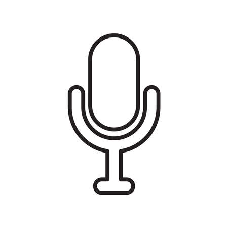 microphone music icon vector