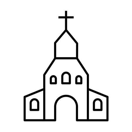 the church icon vector 向量圖像
