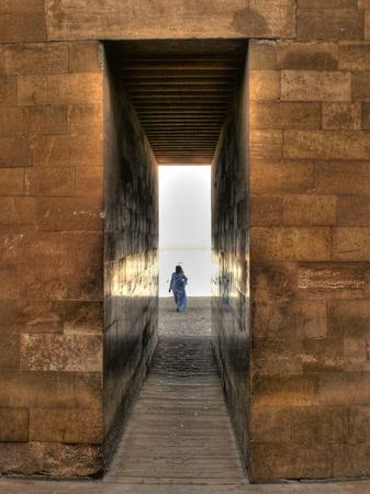 djoser: Corridor entrance to the Djoser mortuary complex at Saqqara (Egypt)