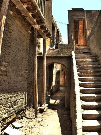 Detail of narrow alley in the Coptic neighborhood at Cairo (Egypt) photo