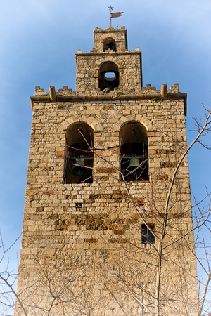 theological: Bell Tower detail of Sant Cugat del Valles monastery (Barcelona, Catalonia)